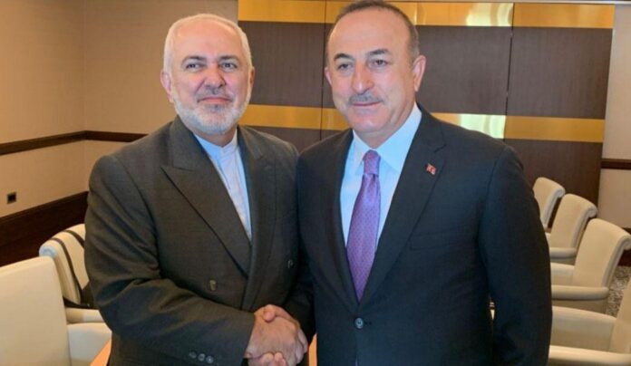 Zarif and Turkish FM Meeting in Baku