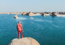 Gorgeous Desert Lake Created in Hottest Spot on Earth