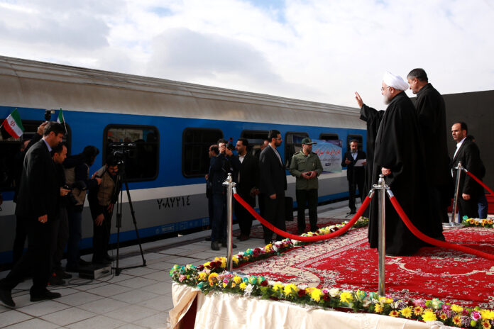 Iran President Opens Key Railway Near Turkey