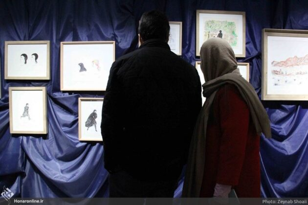 Painting Exhibition by Jean-Claude Carrière in Tehran