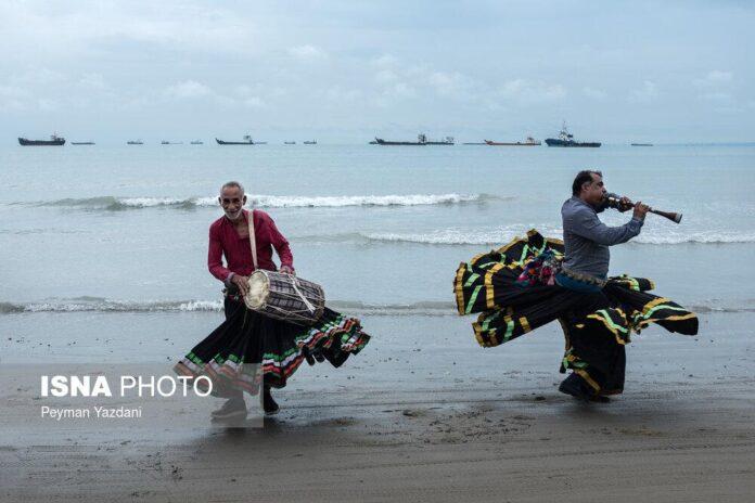 Musicians at a Coast Near Strait of Hormuz