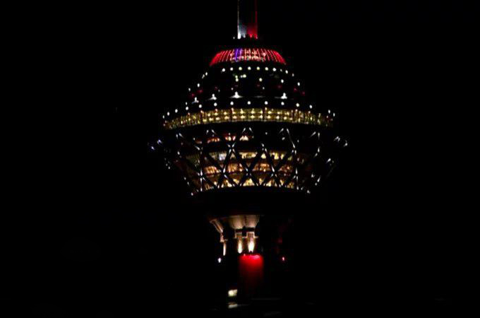 Tehran's Iconic Milad Tower Turns Red on World AIDS Day