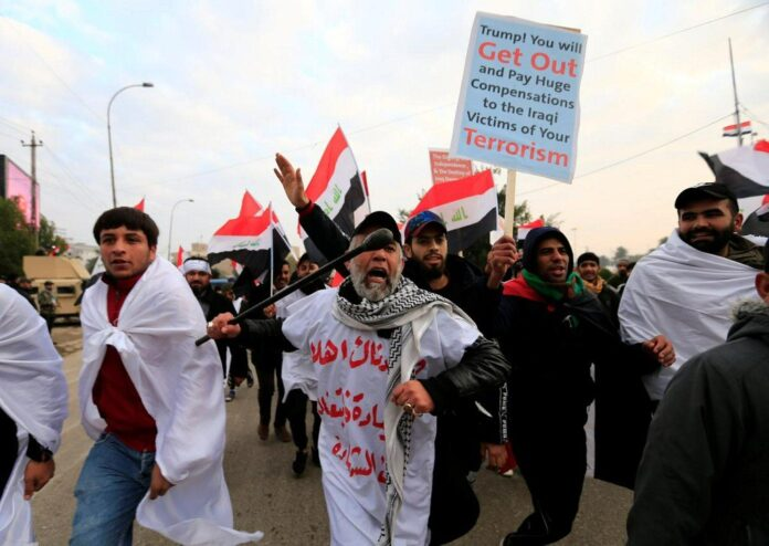 Iraqis Participate in Anti-US Rallies