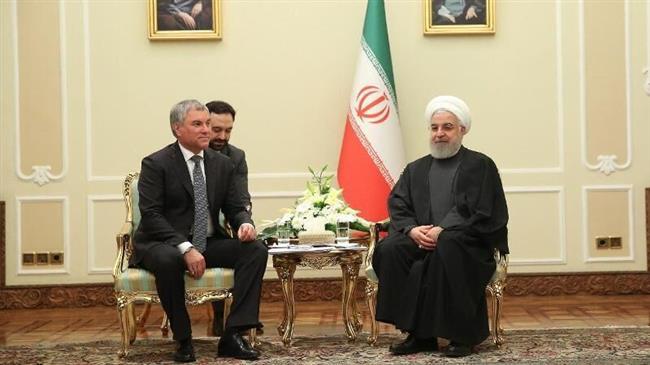 Iran, Russia Developing Ties Despite US Will Rouhani