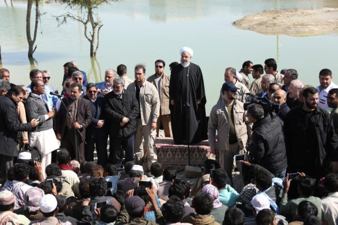 President Rouhani Visits Flood-Hit Areas in Iran's Southeast (6)