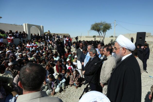 President Rouhani Visits Flood-Hit Areas in Iran's Southeast