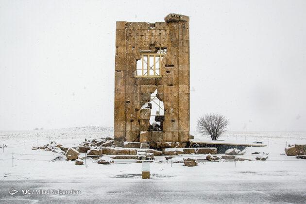Iran's Pasargadae under snow