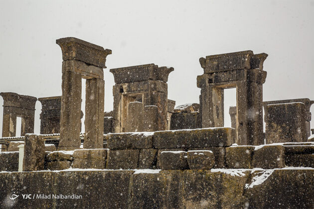 Ancient Persia's Remains under Snow