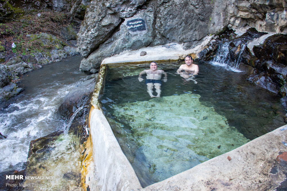 Meshe-Sui Hot Spring in Iran Ardabil