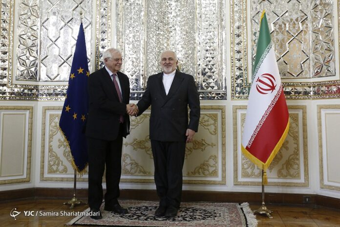 EU's Borrell Holds Talks with FM Zarif in Tehran