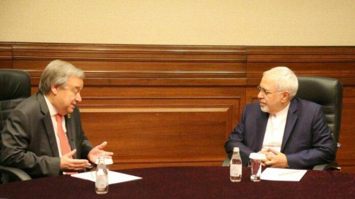 FM Zarif, UN Chief Discuss Afghanistan Developments