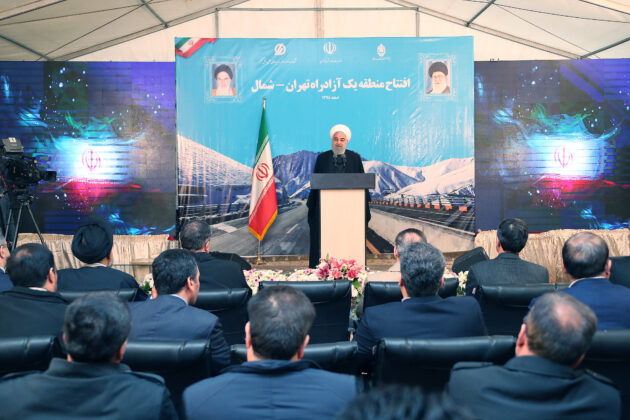 President Finally Opens Major Freeway Connecting Tehran to North Iran