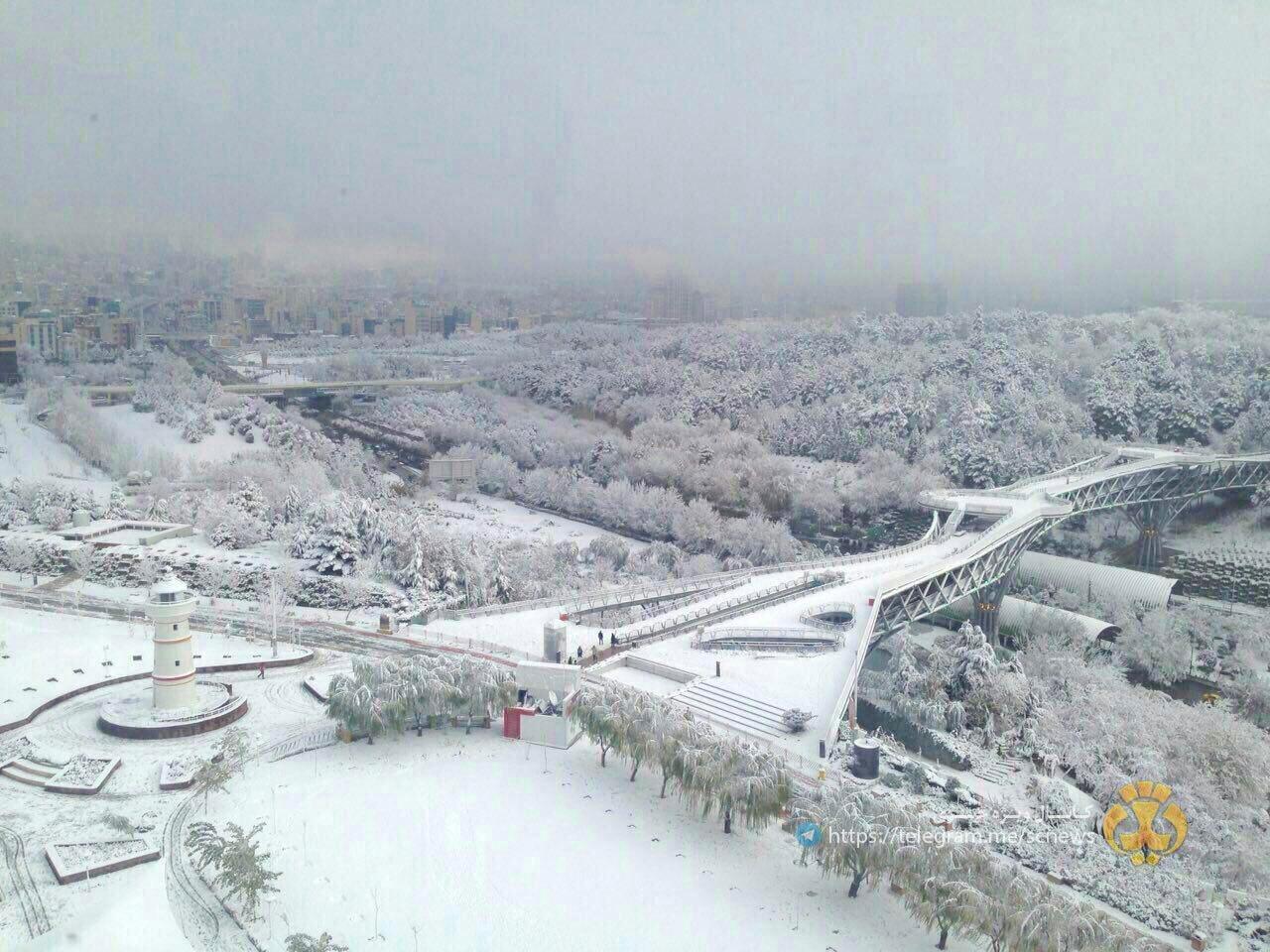 Snowy day in Tabiat Bridge