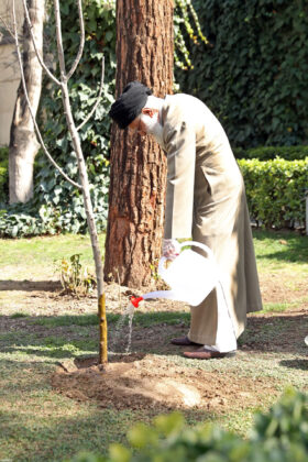 Iran's Leader Plants Sapling on Arbour Day