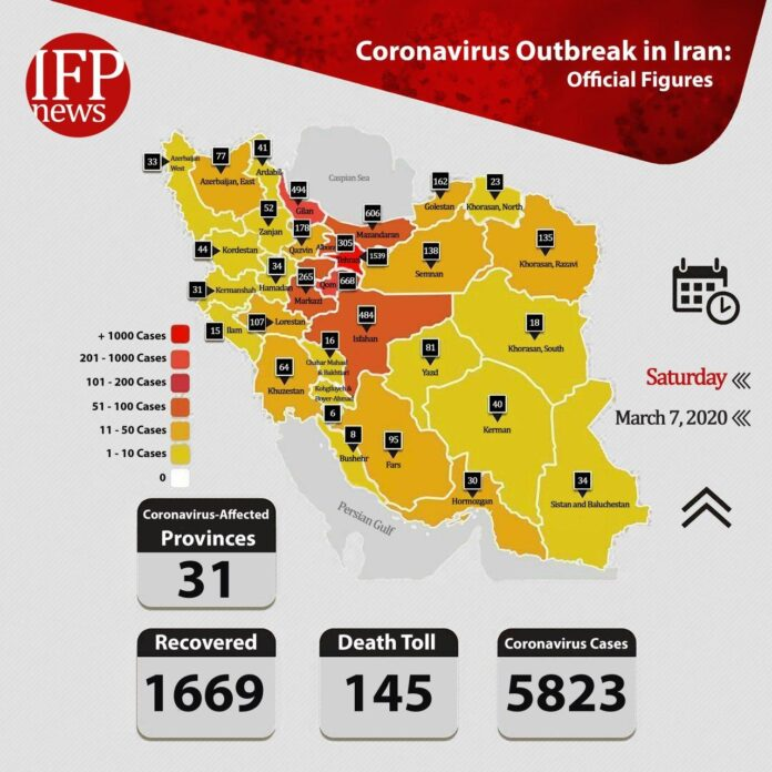 1,669 Iranians Recover from COVID-19 as Death Toll Rises to 145
