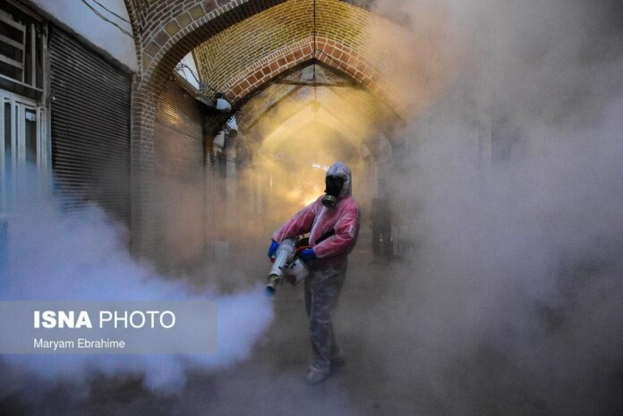 Disinfection of Tabriz Grand Bazaar