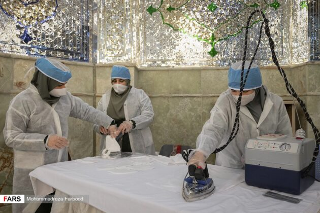 Iranian Holy Shrine Used for Production of Masks amid COVID-19 Outbreak