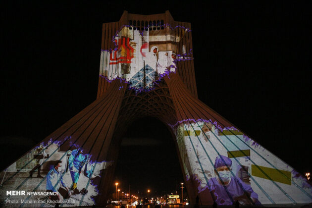 Iran Expresses Solidarity with World on COVID-19 in Videomapping Event (4)