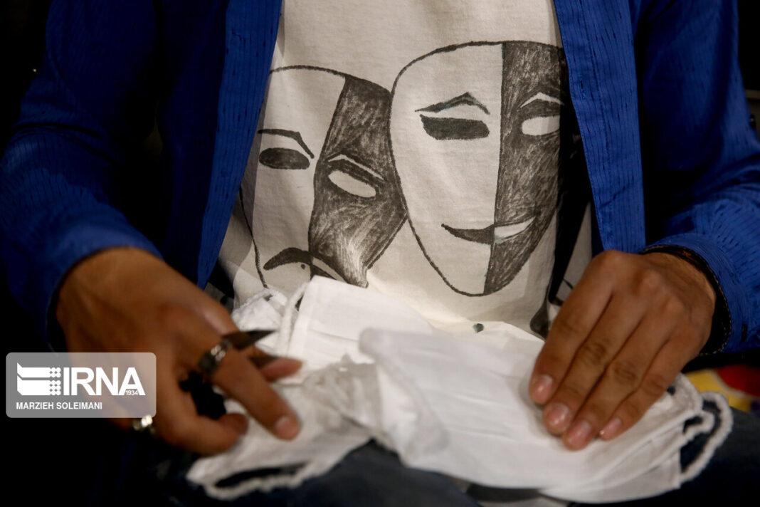 Iranian Artists Produce Mask at Hafez Hall of Tehran 1