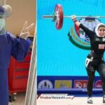Iranian Woman Weightlifter-cum-Nurse Helping COVID-19 Patients
