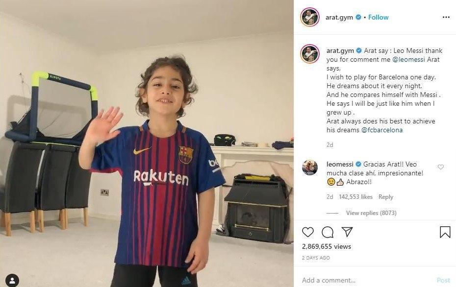 Iranian Wunderkind Arat Hosseini Impresses Lionel Messi