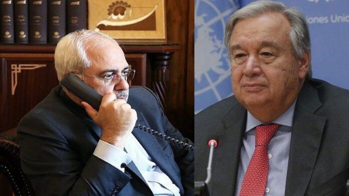 FM Zarif, UN Chief Discuss US Sanctions against Iran
