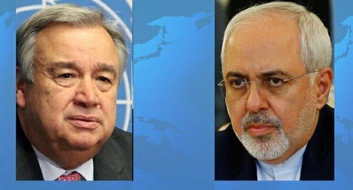 Iran FM Pens Letter to UN Chief on US Bans