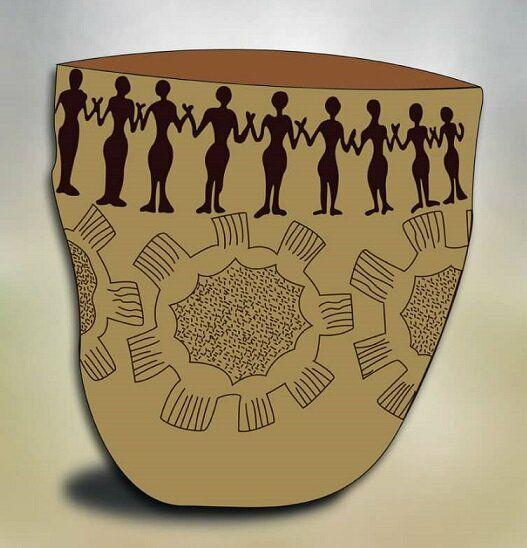 Ancient Pottery Item Reminder of Unity against COVID-19 Pandemic