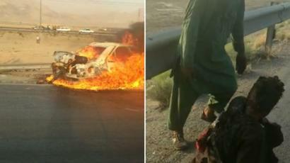 Afghanistan Says Traffickers Are to Blame for Deadly Car Blaze in Iran 1
