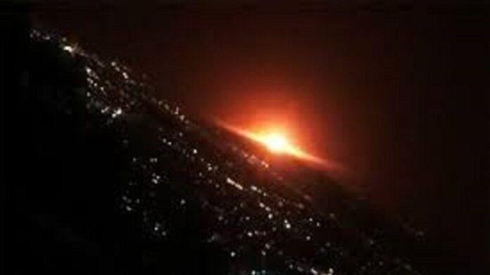 Huge Gas Tank Blast Illuminates Tehran's Night Sky