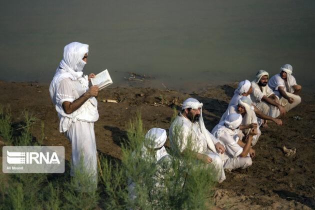 Mandaean Children Baptized in Iran's Karun River