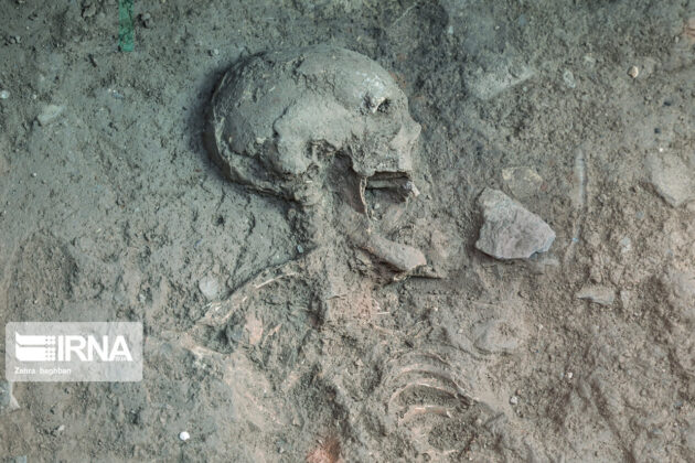 Skeleton of Parthian Woman Unearthed in Central Iran 3