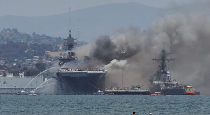 Tough Days Ahead of US, Says IRGC General on American Warship Fire