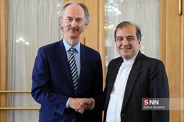 Iranian Diplomat, UN Envoy Discuss Syria Developments