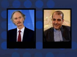 Iranian Diplomat, UN Envoy for Syria Hold Phone Talks