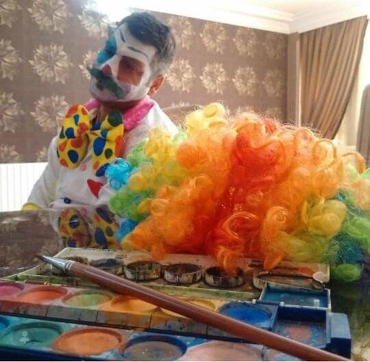 Dressed as Clown, Iranian Engineer Visits Hospitals to Make Kids Laugh 11