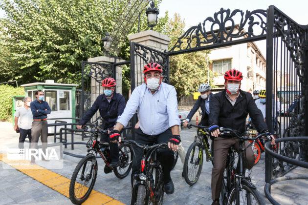 European Envoys Join Tehran Mayor in Car-Free Day Cycling