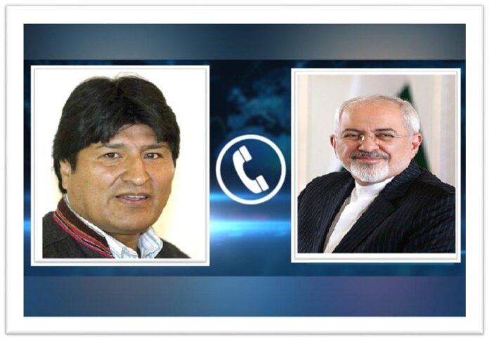 Iran Ready to Work with Bolivia's New Gov't, Zarif Tells Morales