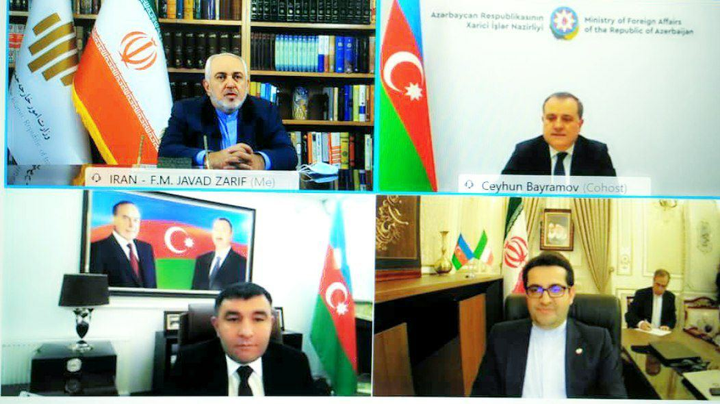 Iranian, Azerbaijani Foreign Ministers Hold Talks via Videoconference | Iran Front Page