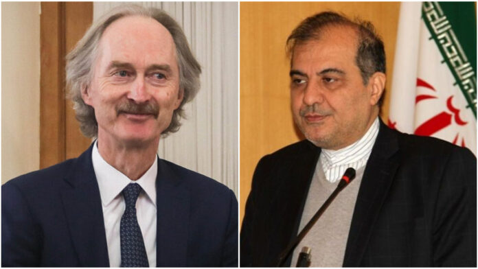 Iranian Diplomat, UN Envoy Discuss Syria Developments