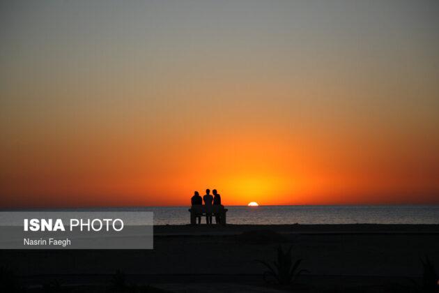 The sunset at Kish Island's Hoor Beach