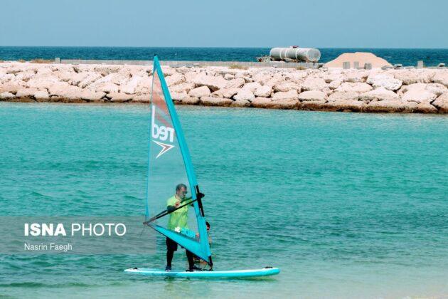 The Marina Beach is a resort spot on Kish Island