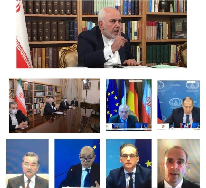 JCPOA Parties Hold Online Meeting at Ministerial Level